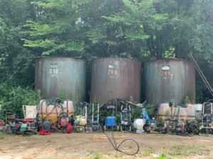 洗車用水タンク